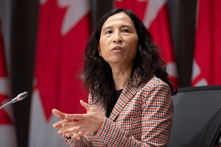 Chief Public Health Officer Theresa Tam responds to a question during a daily news conference in Ottawa on May 21, 2020.
