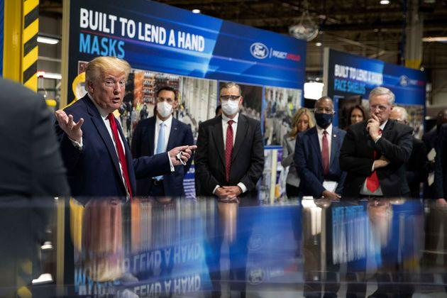 Trump Dodges Wearing Face Mask On