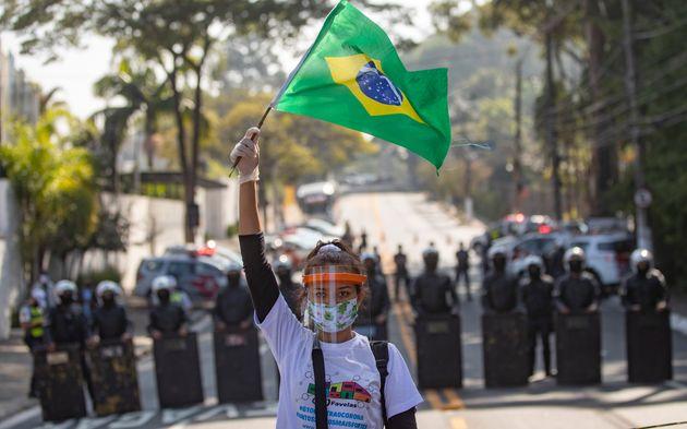 Le Brésil franchit le seuil des 20.000 morts du coronavirus (photo d'illustration prise le 18...