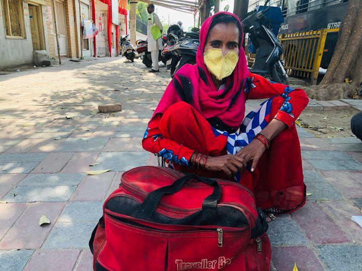 Migrant worker Rani Prajapati in New Delhi.