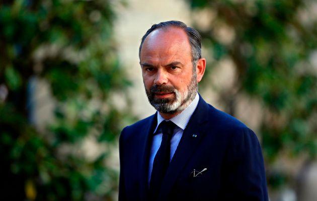 Édouard Philippe avant la réunion avec les chefs de partis à Matignon le 20