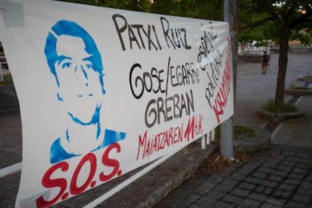 Protestas en Pamplona en apoyo al etarra Patxi
