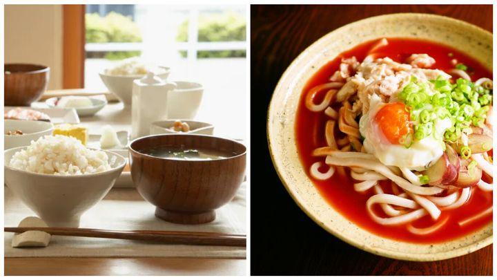 イメージ写真とトマトジュースとめんつゆの簡単冷やし麺