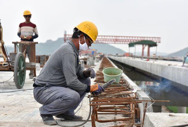 中国で進むインフラ工事