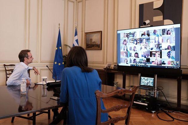 Μητσοτάκης για τηλεκπαίδευση: Πρωτοπόρο εγχείρημα, το αγκάλιασε η ελληνική