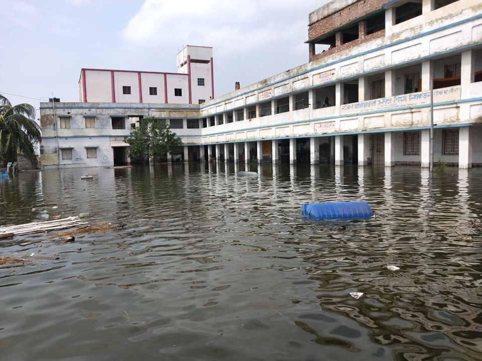 Schools and other buildings where people took shelter were also