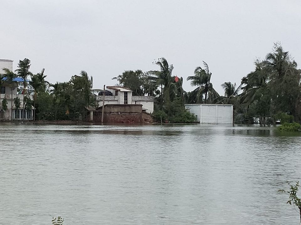 Flooded parts of