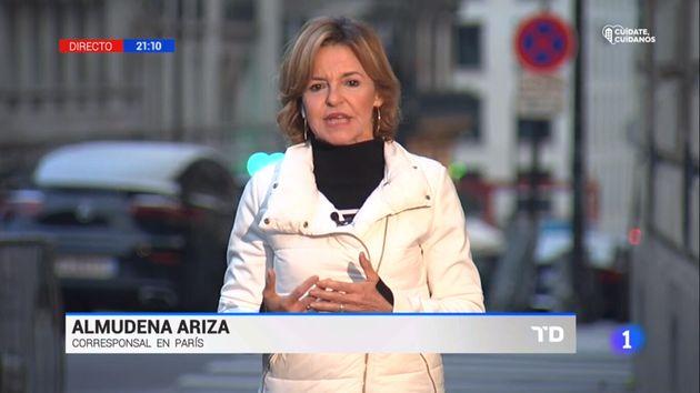 Almudena Ariza en el informativo de