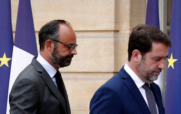 Édouard Philippe et Christophe Castaner à Matignon vendredi 22