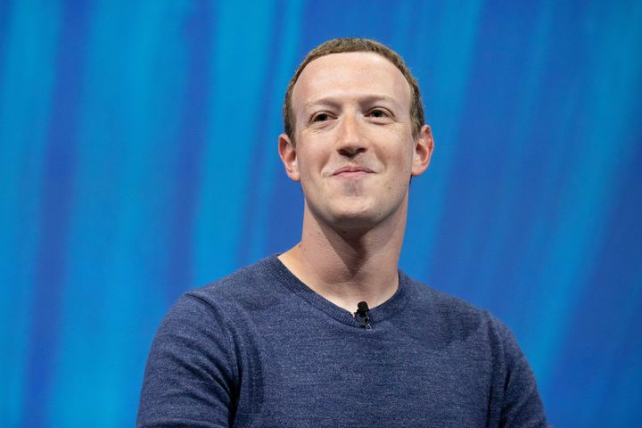 Facebook founder and CEO Mark Zuckerberg appears at the Viva Tech start-up and technology gathering in Paris on May 24, 2018. Facebook is planning to reduce pay for remote workers who move to more affordable cities.