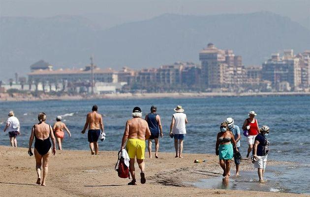 La playa de la Malvarrosa, en