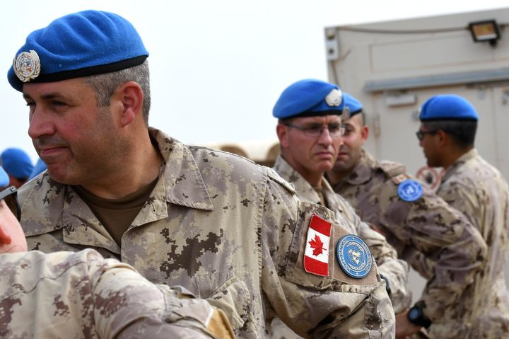 Canadian soldiers of the United Nations Multidimensional Integrated Stabilization Mission in Mali are seen at the contingents' camp in Gao on July 31, 2018.