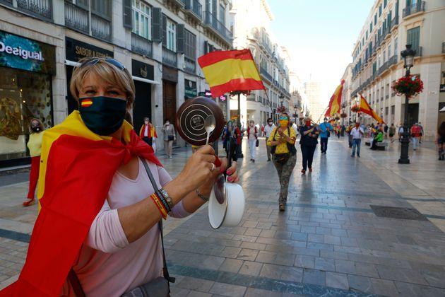 Una protesta contra el Gobierno, en