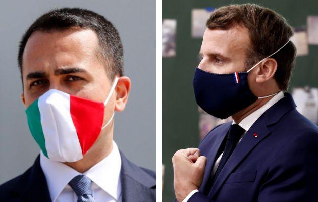 Luigi Di Maio y Emmanuel Macron.