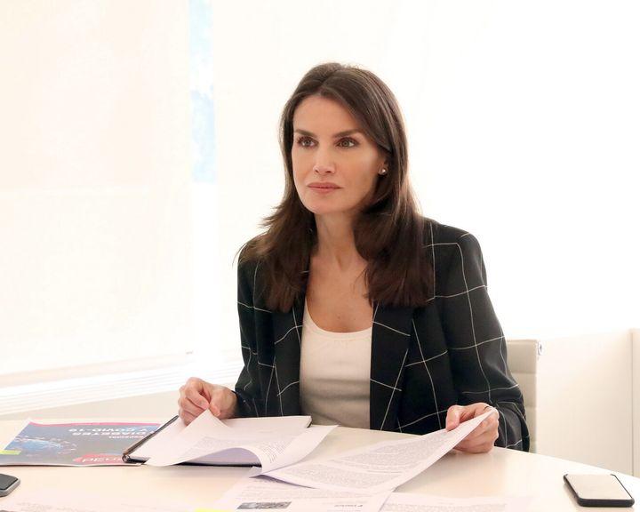 Letizia en su despacho el pasado 28 de abril.