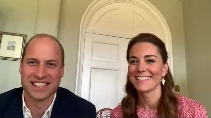 Los duques de Cambridge en una videoconferencia el pasado 20 de mayo.