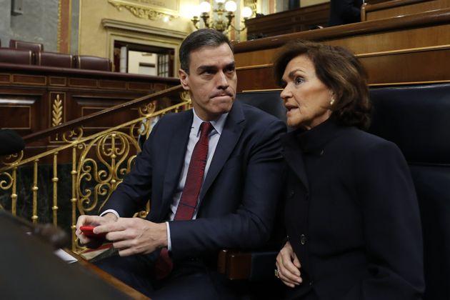 Pedro Sánchez y Carmen
