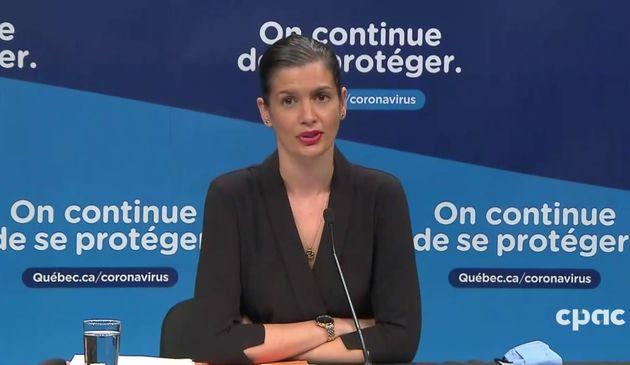 Geneviève Guilbault, ministre de la Sécurité