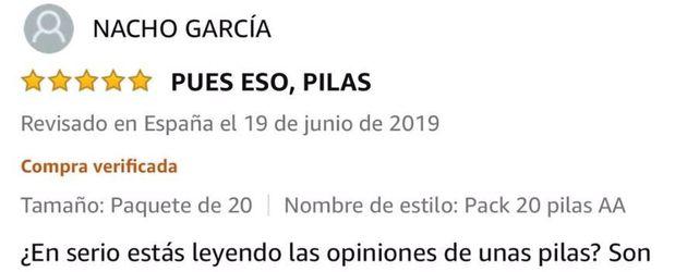 Uno de los comentarios de Nacho