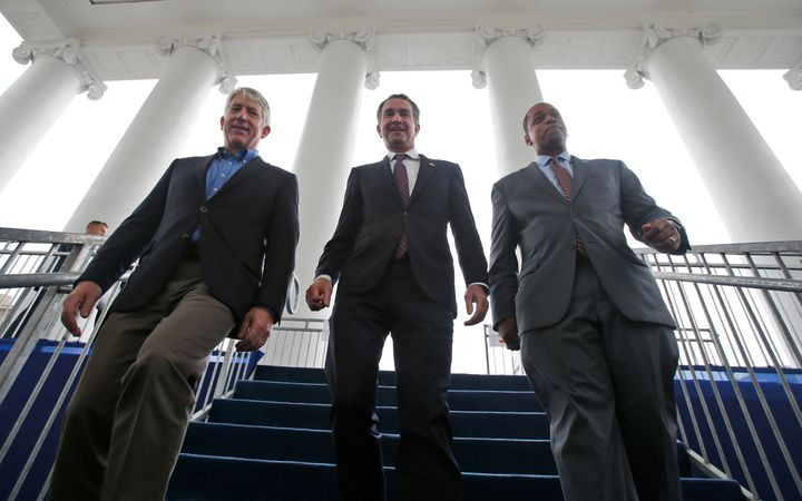 Virginia Attorney General Mark Herring (D), Gov. Ralph Northam (D) and Lt. Gov. Justin Fairfax (D) all faced scandals in 2019