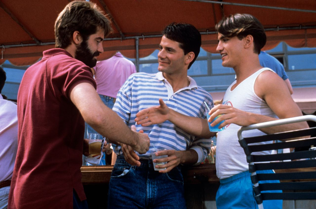 """From left: Stephen Caffrey, Campbell Scott and Dermot Mulroney in """"Longtime Companion."""""""