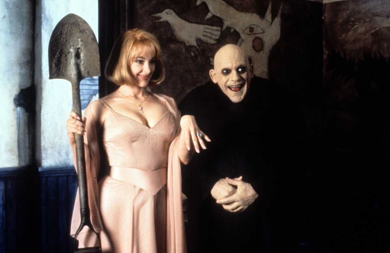 """Joan Cusack and Christopher Lloyd in """"Addams Family Values."""""""