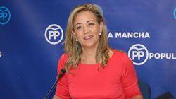 La portavoz del PP en Castilla-La Mancha ilustra un tuit sobre el PSOE con una foto de