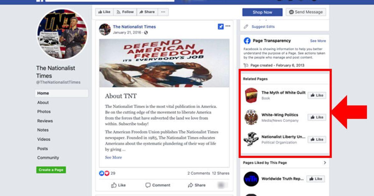 """Estudio: los grupos de supremacistas blancos están """"prosperando"""" en Facebook, a pesar de la prohibición extremista"""