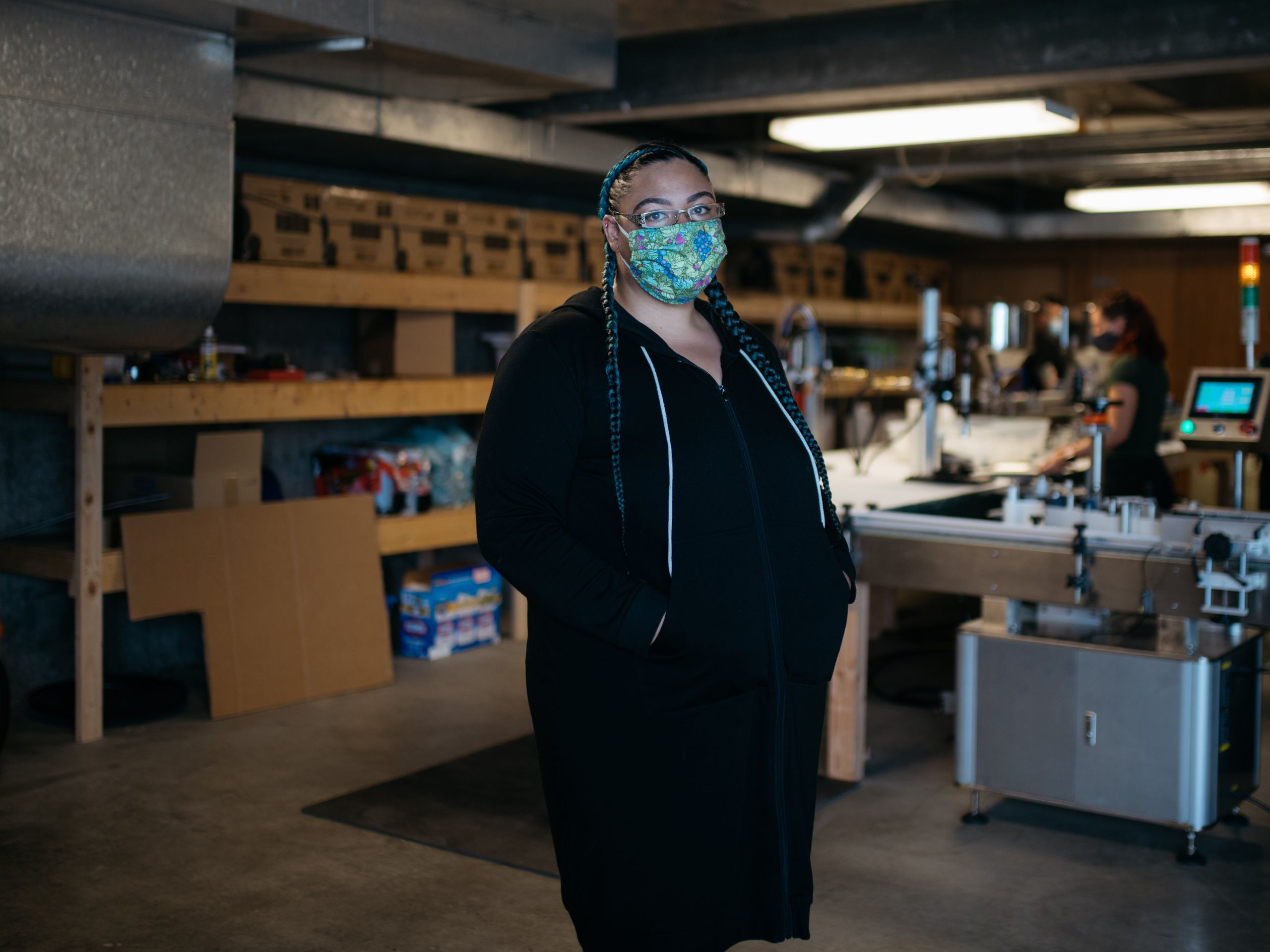 Sherae Lascelles, founder of Seattle's Green Light Project, a nonprofit that gives sanitation products and cash to sex