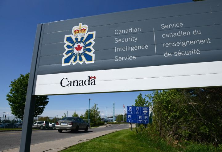 File photo of a sign for the Canadian Security Intelligence Service building in Ottawa on May 14, 2013. Its latest annual report, Canada's spy agency now considers gender-driven violence as a form of ideologically motivated violent extremism.