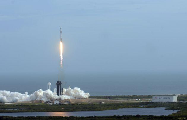 La Nasa donne son feu vert au premier vol habité de SpaceX (photo du test du 19 janvier