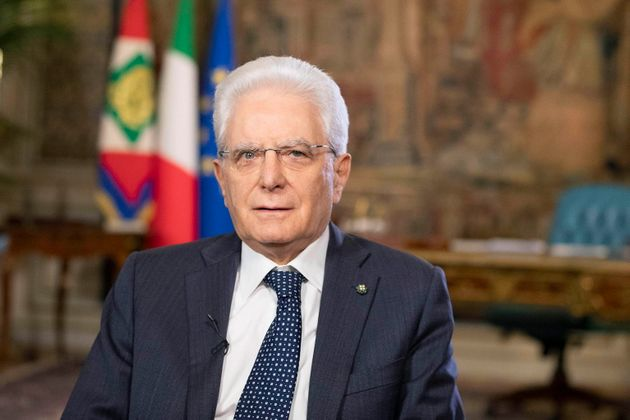 epa08438675 A handout photo made available by the Quirnale Press Office shows Italian President Sergio...