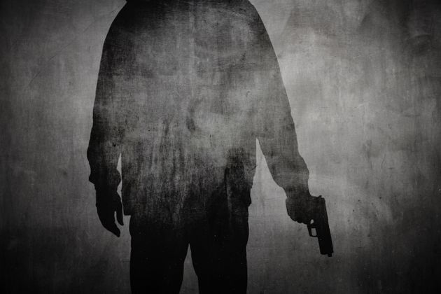 Silhouette or shadow of a man holding a