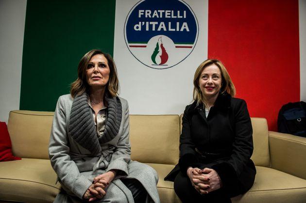 31/01/2019 Milano, , Inaugurazione della nuova sede di Fratelli d'Italia; nella foto Giorgia Meloni con...
