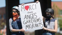 Manifestation pour régulariser le statut des réfugiés «anges