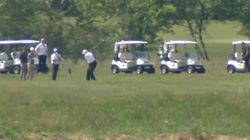 Trump Plays Golf As Coronavirus Death Toll Nears 100,000 In