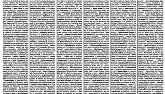 ニューヨークタイムズ、1面は全て活字。1000人のコロナ死者名を掲載