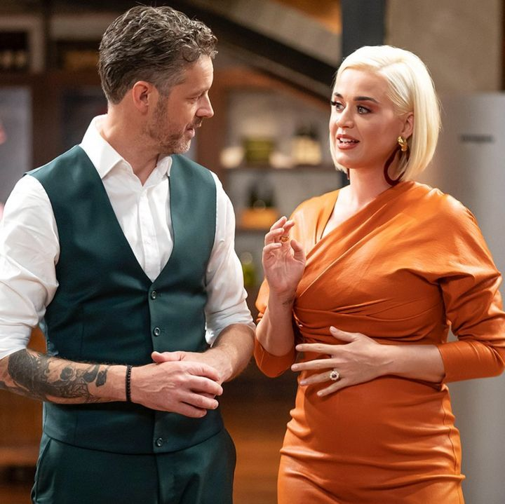 'MasterChef Australia: Back To Win' judge Jock Zonfrillo with guest Katy Perry.