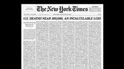 New York Times dedica la prima pagina ai morti di Covid-19: