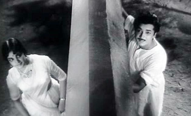 Prem Nazir and Vijaya Nirmala in 'Bhargavi Nilayam'