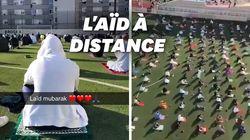 Pour respecter les gestes barrière, la prière de l'Aïd à Levallois a eu lieu dans un