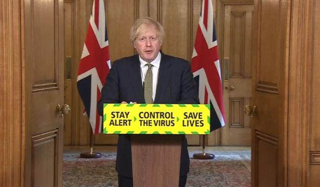 Screen grab of Prime Minister Boris Johnson during a media briefing in Downing Street, London, on coronavirus