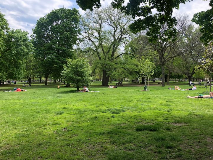 Trinity Bellwoods Park was much quieter on Sunday, May 24, 2020.