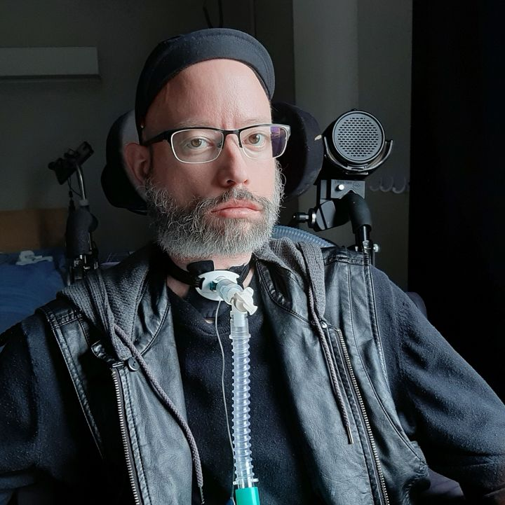 Disability activist Jonathan Marchand lives in a long-term care home outside Quebec City.
