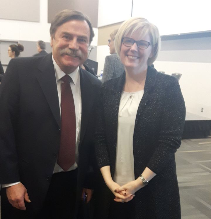 Independent Living Canada national executive director Patrick Curran poses in this undated photo with Carla Qualtrough.