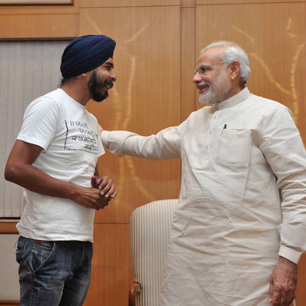 A file photo of BJP leader Tajinder Bagga with PM
