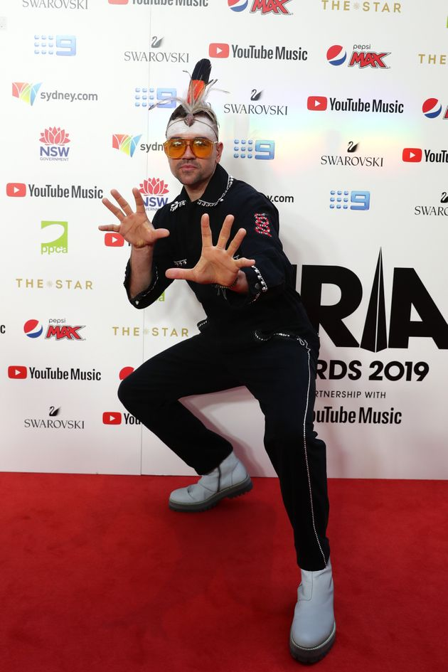 Mitch Tambo arrives for the 33rd Annual ARIA Awards 2019 at The Star on November 27, 2019 in Sydney,...