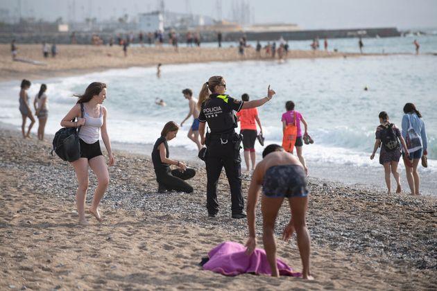Αστυνομικός στην Βαρκελώνη...