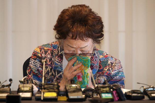 일본군 '위안부' 피해자 이용수 할머니가 두 번째 기자회견을