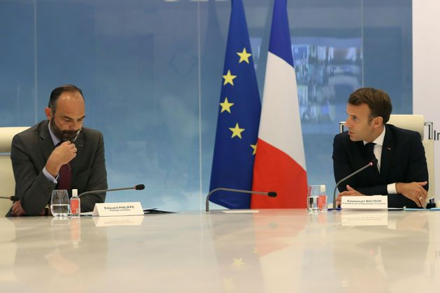 Édouard Philippe et Emmanuel Macron au ministère de l'Intérieur le 13